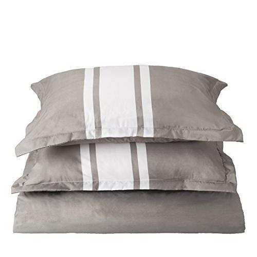 Bedsure Cover with Zipper Stripe Design Floral Design,King-2 -Ultra Soft