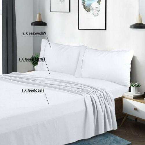 Egyptian Count 4 Piece Sheet Bed Sheets