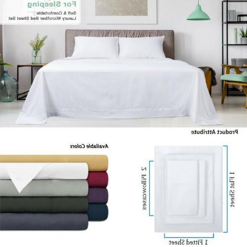 Egyptian Count 4 Sheet Set Deep Pocket Bed Sheets