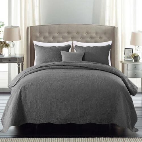Embossed Bedspread Coverlet