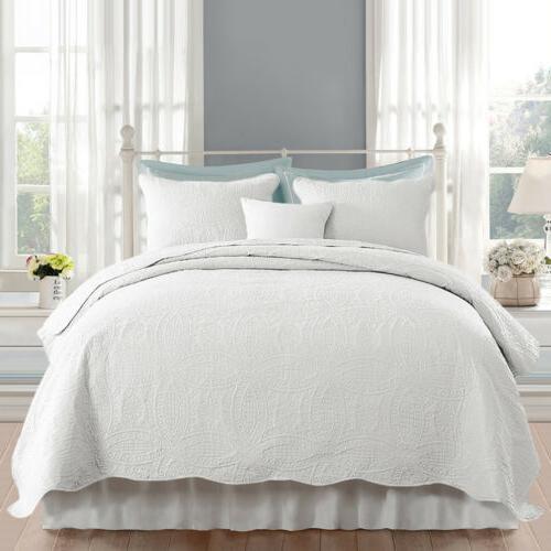 Embossed Bedspread Quilt Set Shams