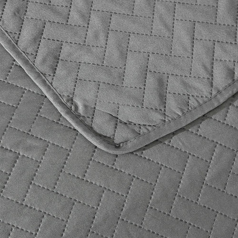 Embossed Reversible Bedspread Coverlet Quilt Bedding Cover Queen