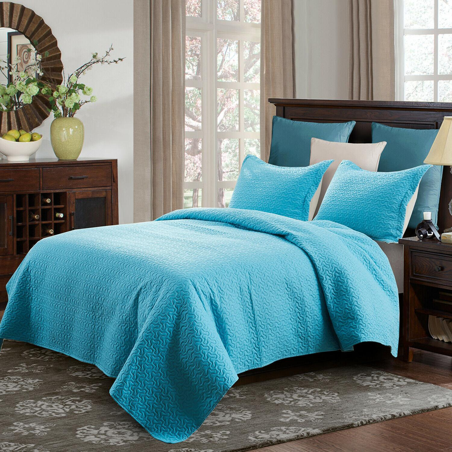 3-Piece Coverlet Quilt Set Queen/King Size