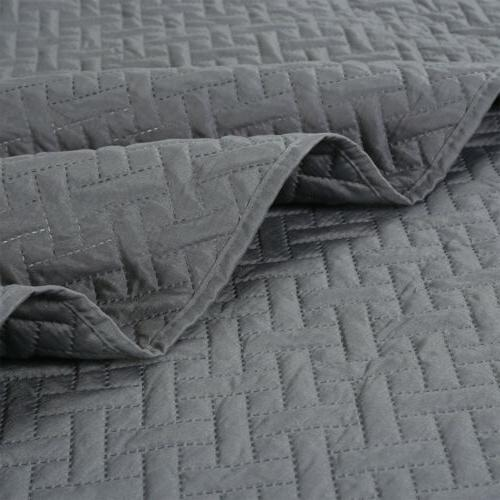 Embossed Bedspread Quilt Bedding Cover Twin