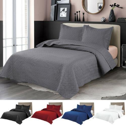 embossed reversible bedspread coverlet quilt set bedding