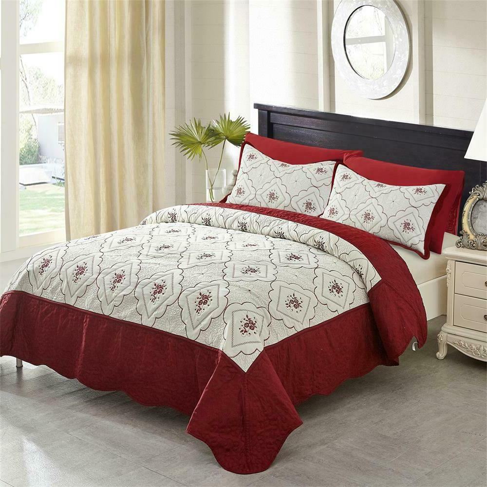 Quilt Set Brushed Microfiber Bedspread
