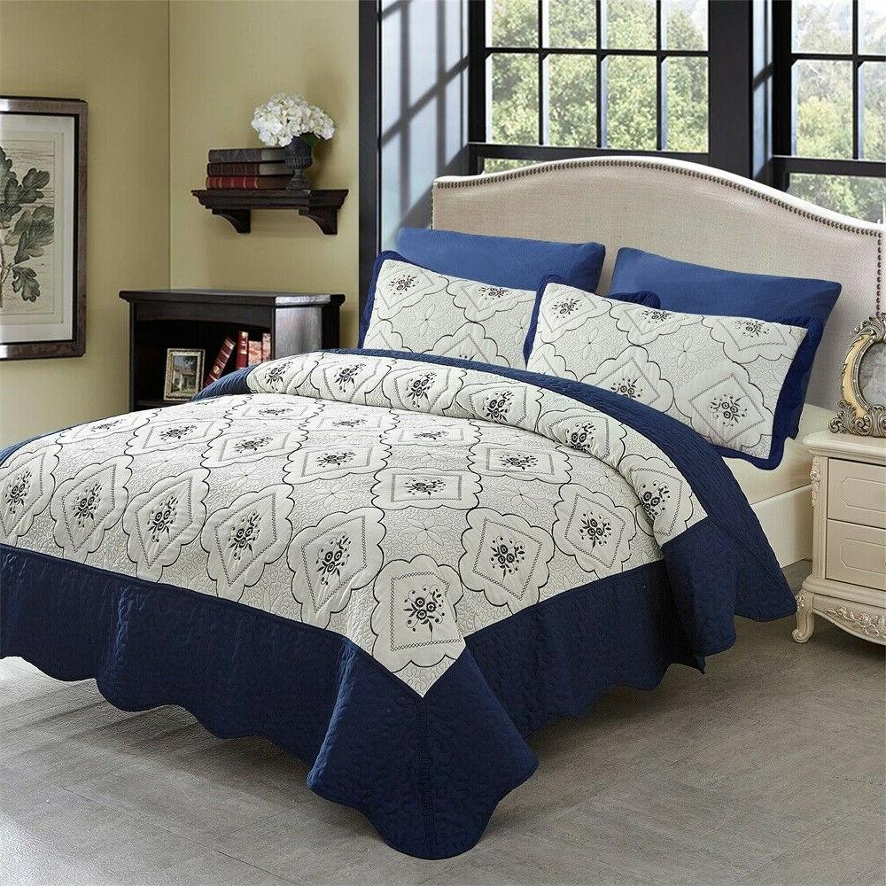 Quilt Set Microfiber With Bedspread