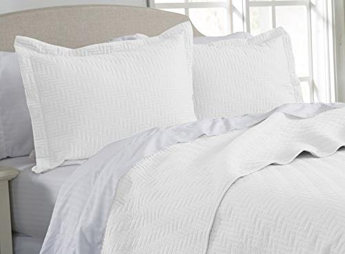 Home Collection 3-Piece Luxury Set with All-Season Bedspread Coverlet Brand.