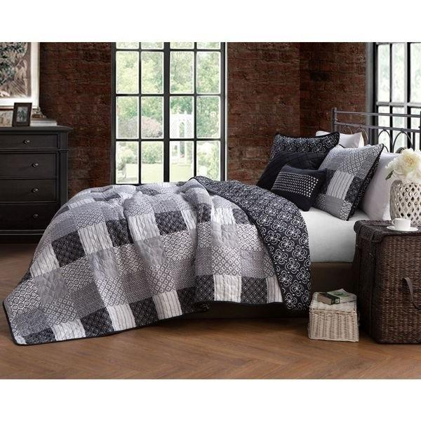Avondale Manor Evangeline Queen Size Black & White 5 PC Quil