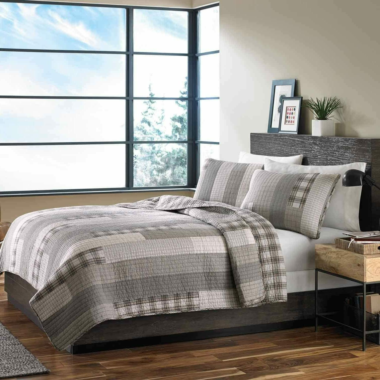 fairview cotton reversible quilt set