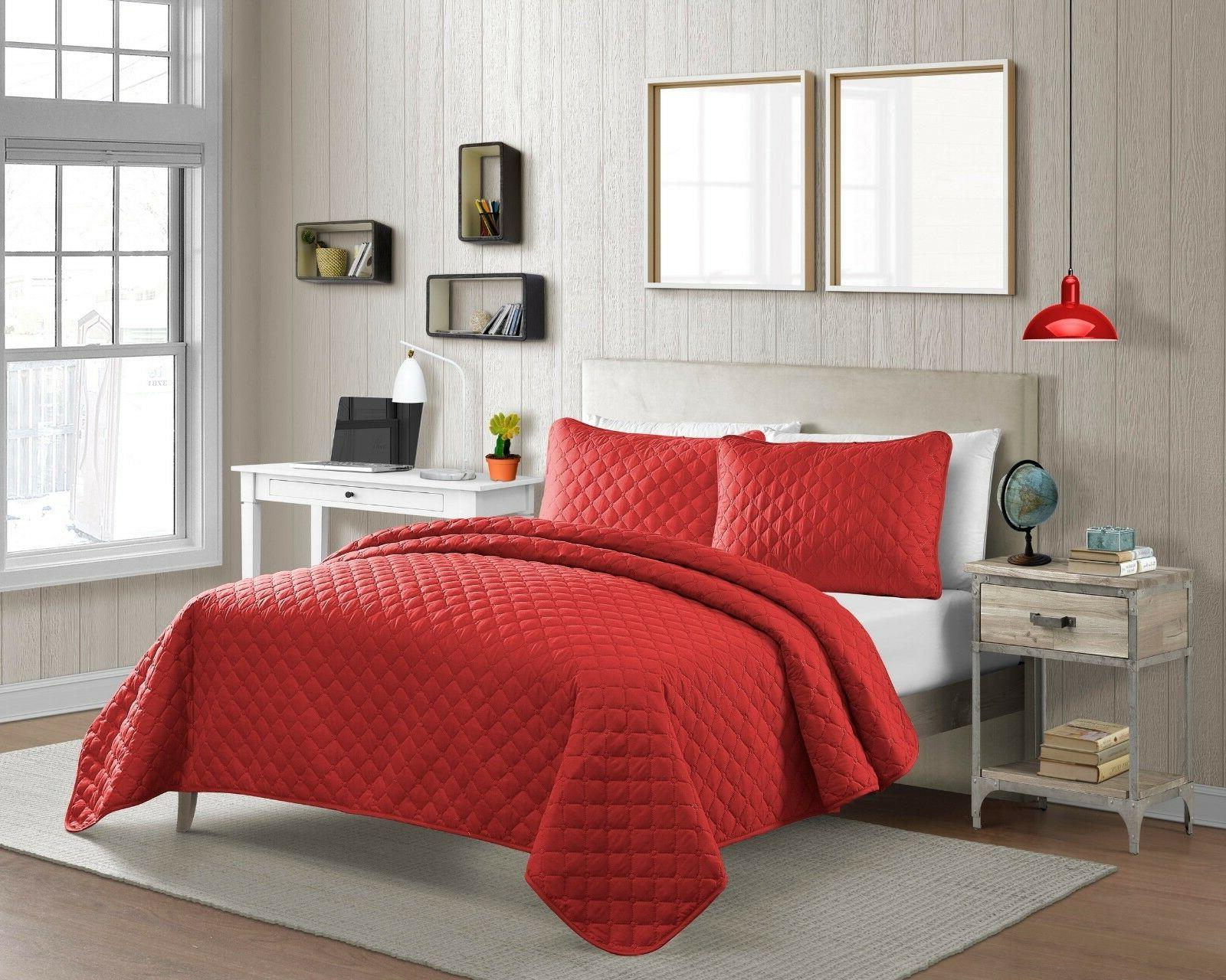fashionable solid color diamond pinsonic microfiber quilt