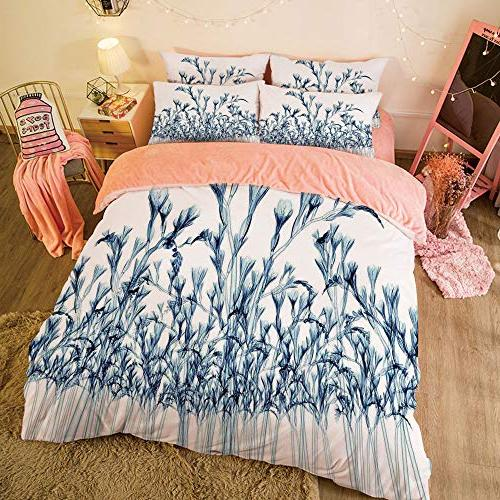Flannel Queen Size Sheet Set for 5ft Winter Customized bedding and young Bottom to Top ray