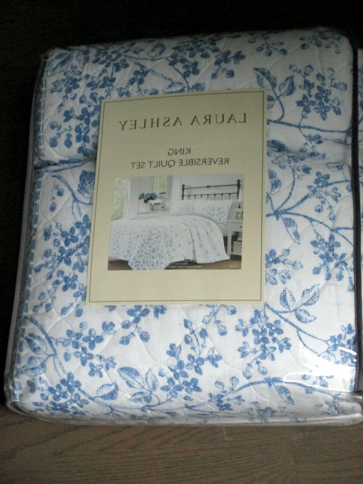 LAURA ASHLEY Flora & Floral Cotton Quilt 3pc