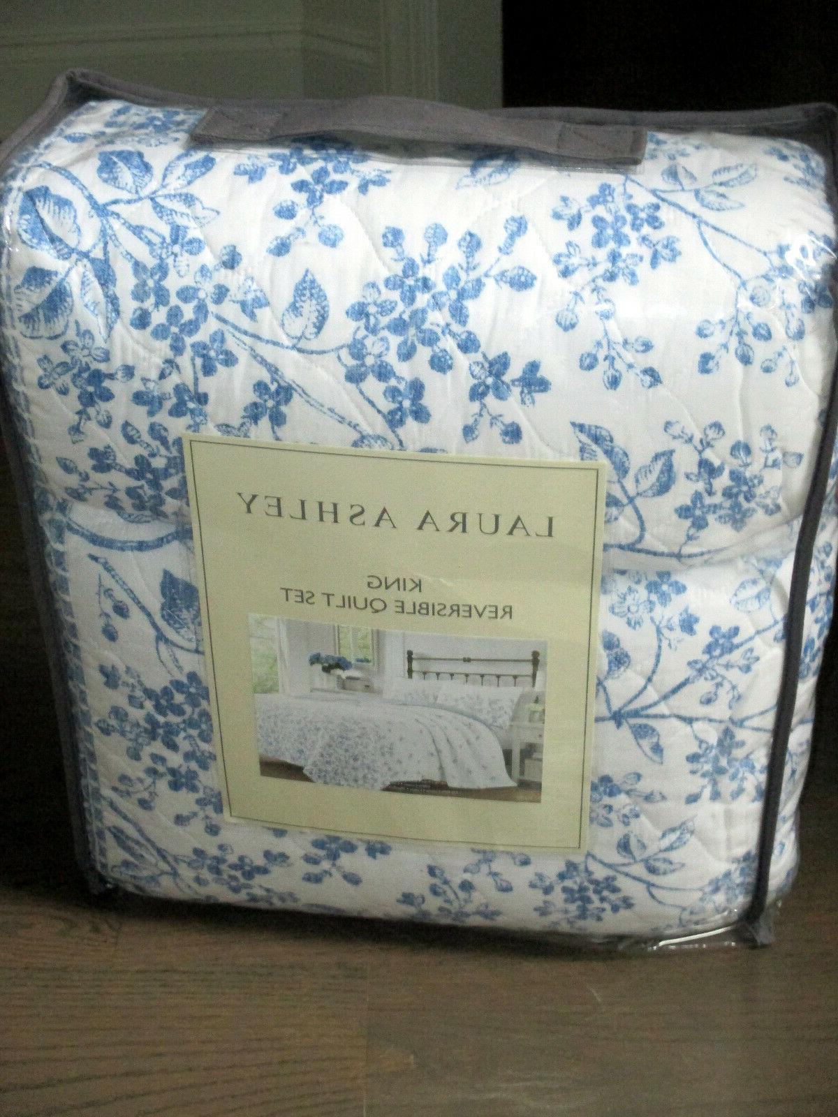 LAURA & White Floral Cotton KING SET