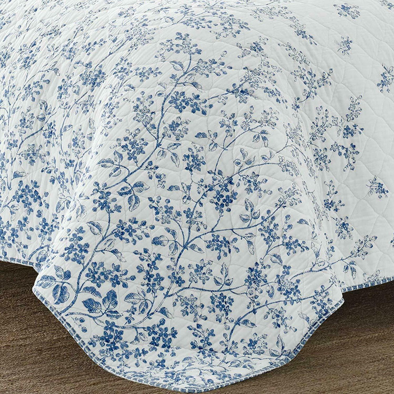 LAURA ASHLEY Flora Blue & Floral Cotton 3pc