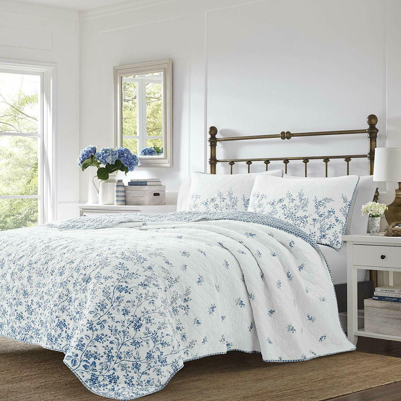 LAURA Flora & White Cotton KING 3pc