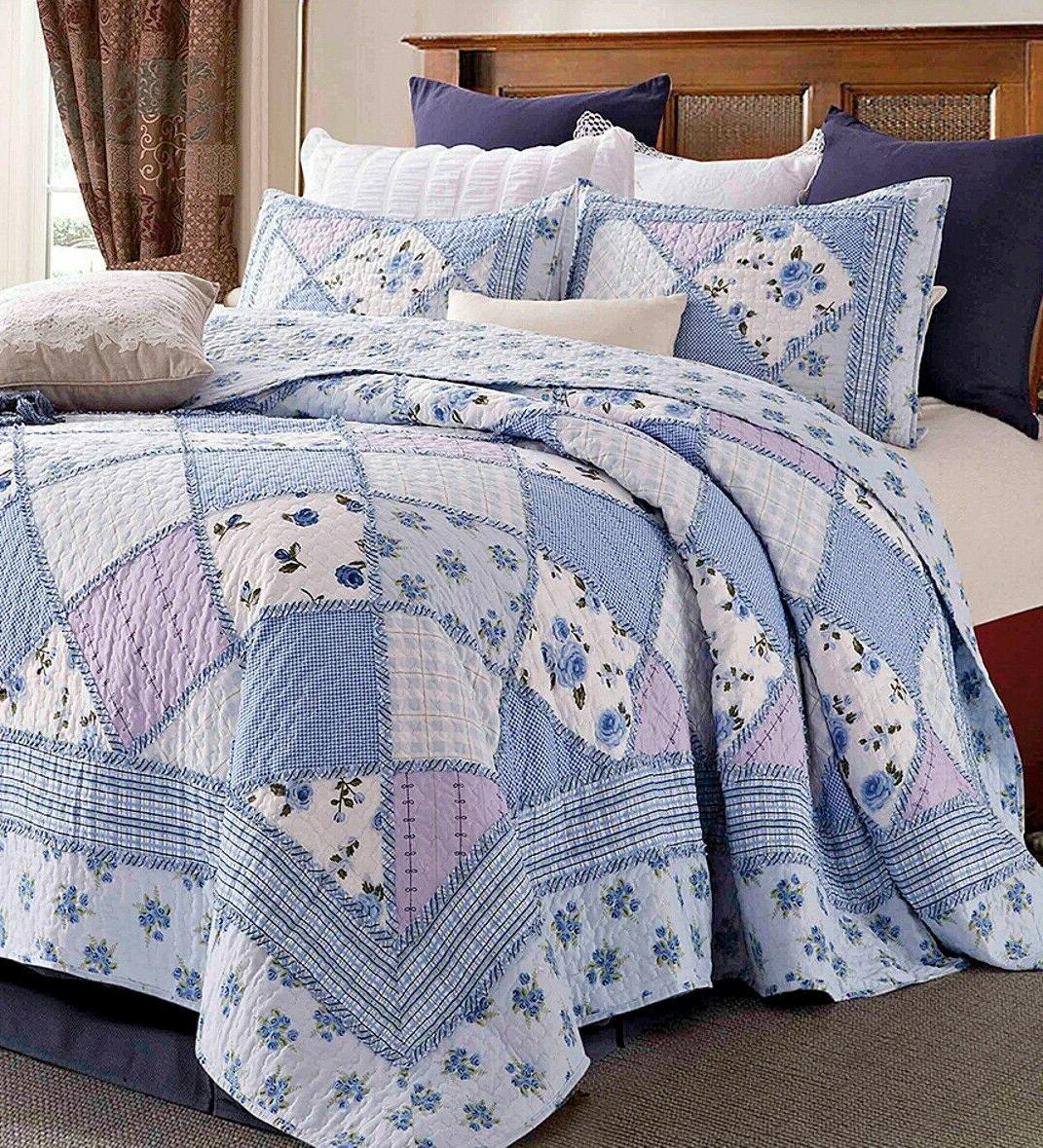 garden of blues king quilt set country