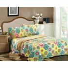 Geometric Spring Flower 3 Piece Quilt Set by Tache Home Fash