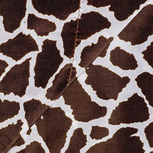 girls chocolate giraffe queen sheet