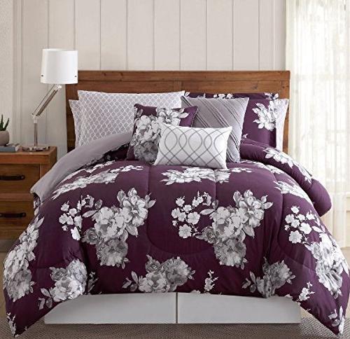 girls purple floral comforter king