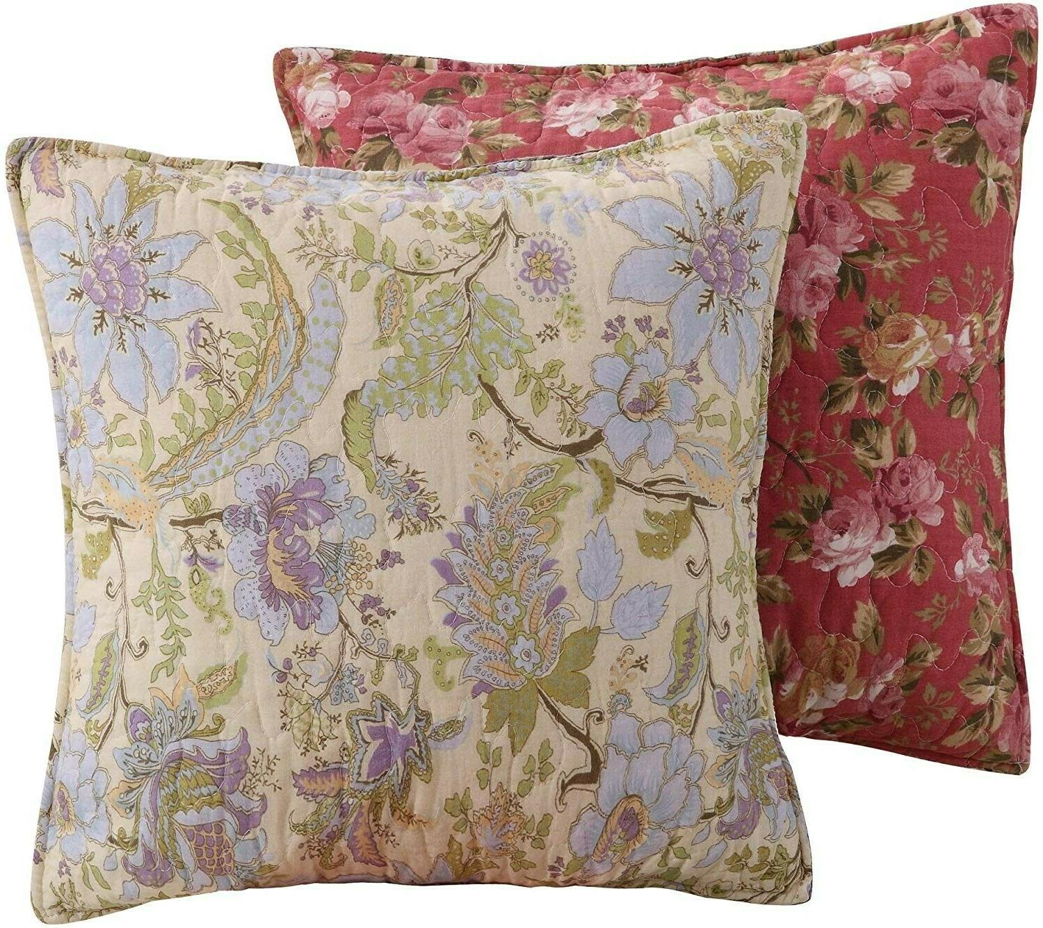 Greenland Home Blooming Cotton Patchwork Quilt 5-Piece Full/Queen