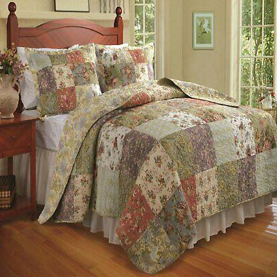 greenland home blooming prairie quilt and sham