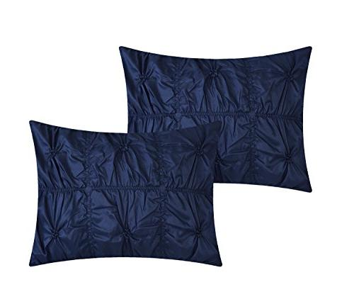 Chic Home Halpert 6 Piece Pinch Ruffled Embellished Bedding with Skirt Shams Included,