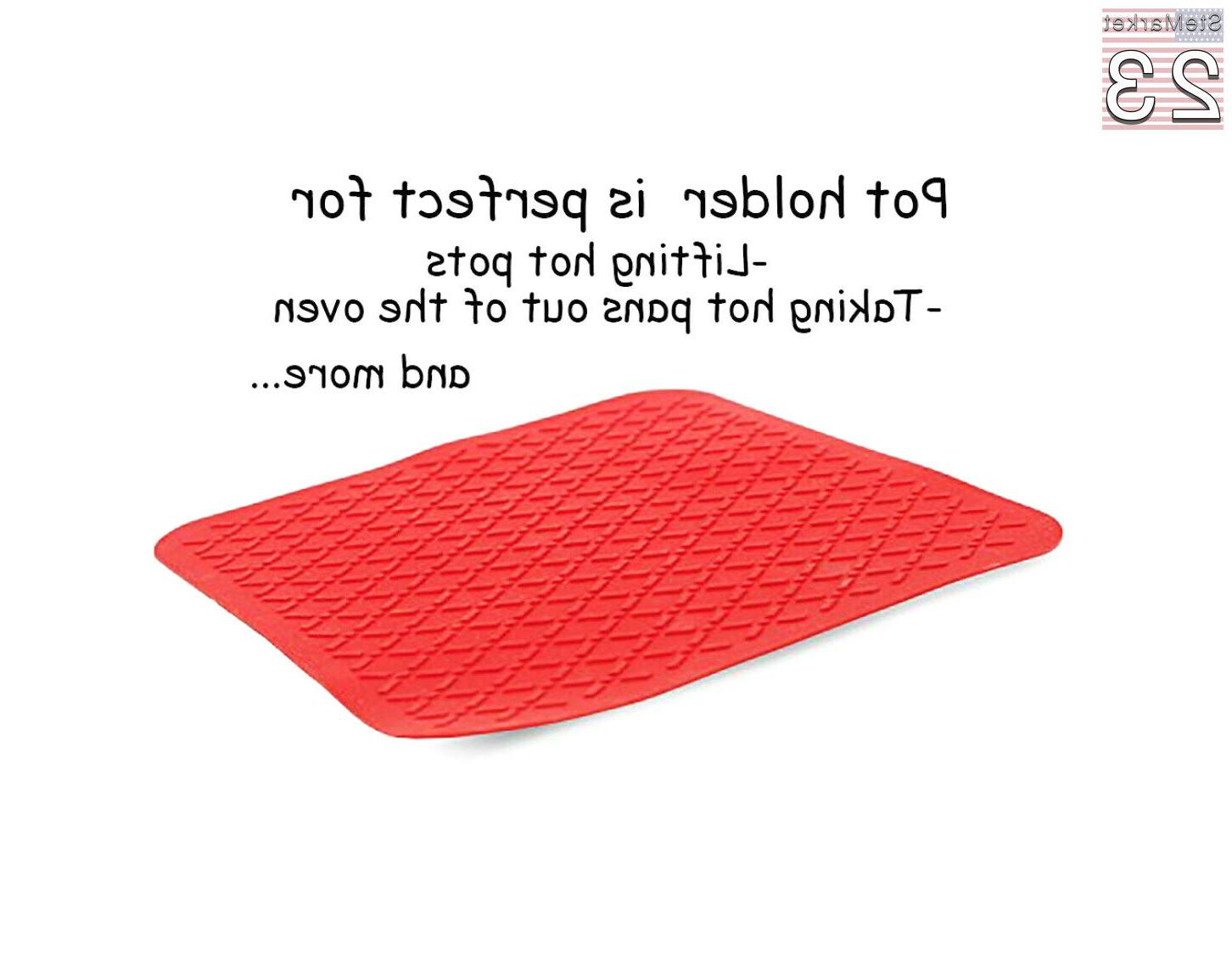 Home Kitchen Premium Silicone Oven Hot Pot Holder Set Quilted USA