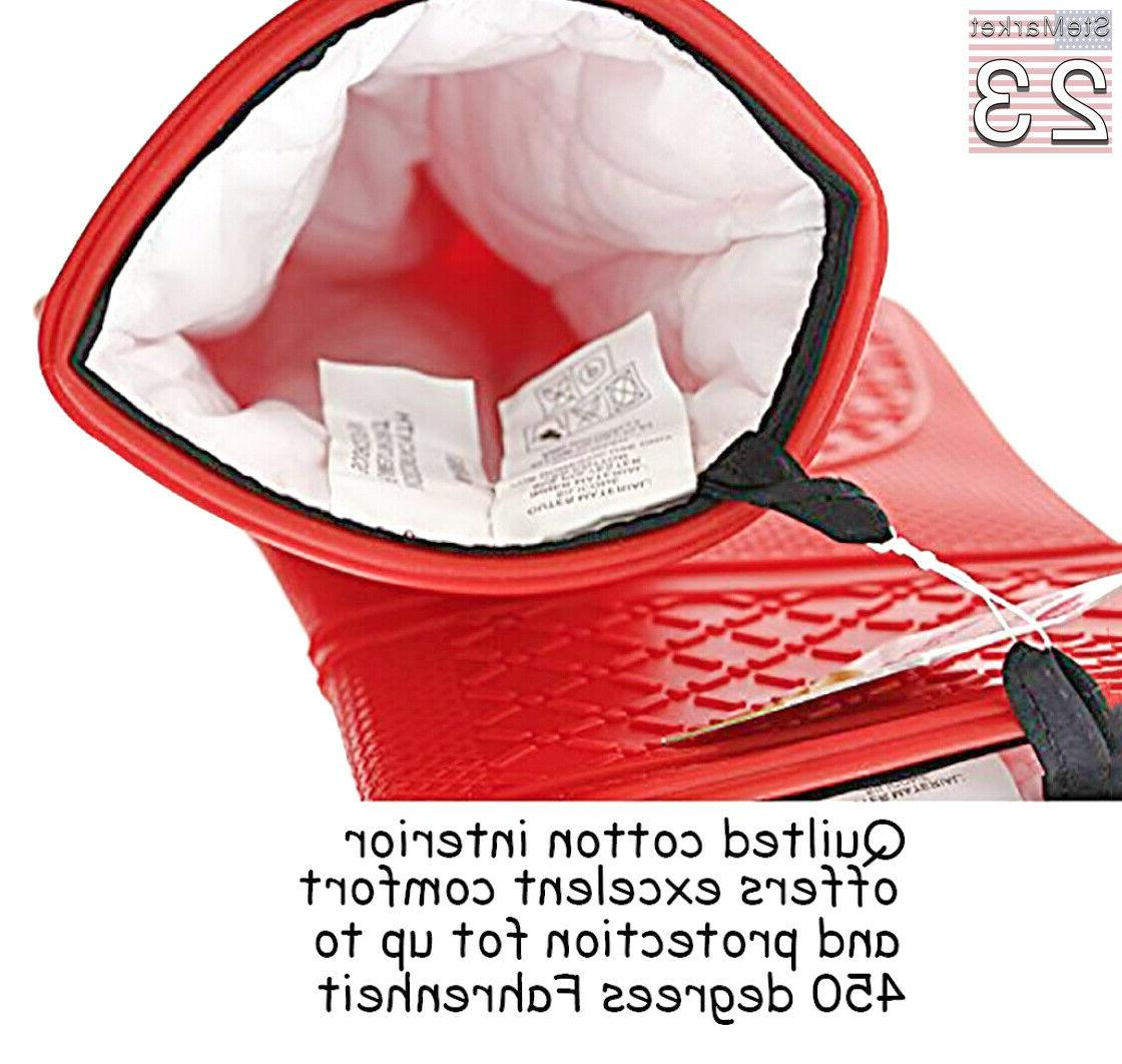 Home Kitchen Silicone Oven Hot Pot Holder Set Quilted USA