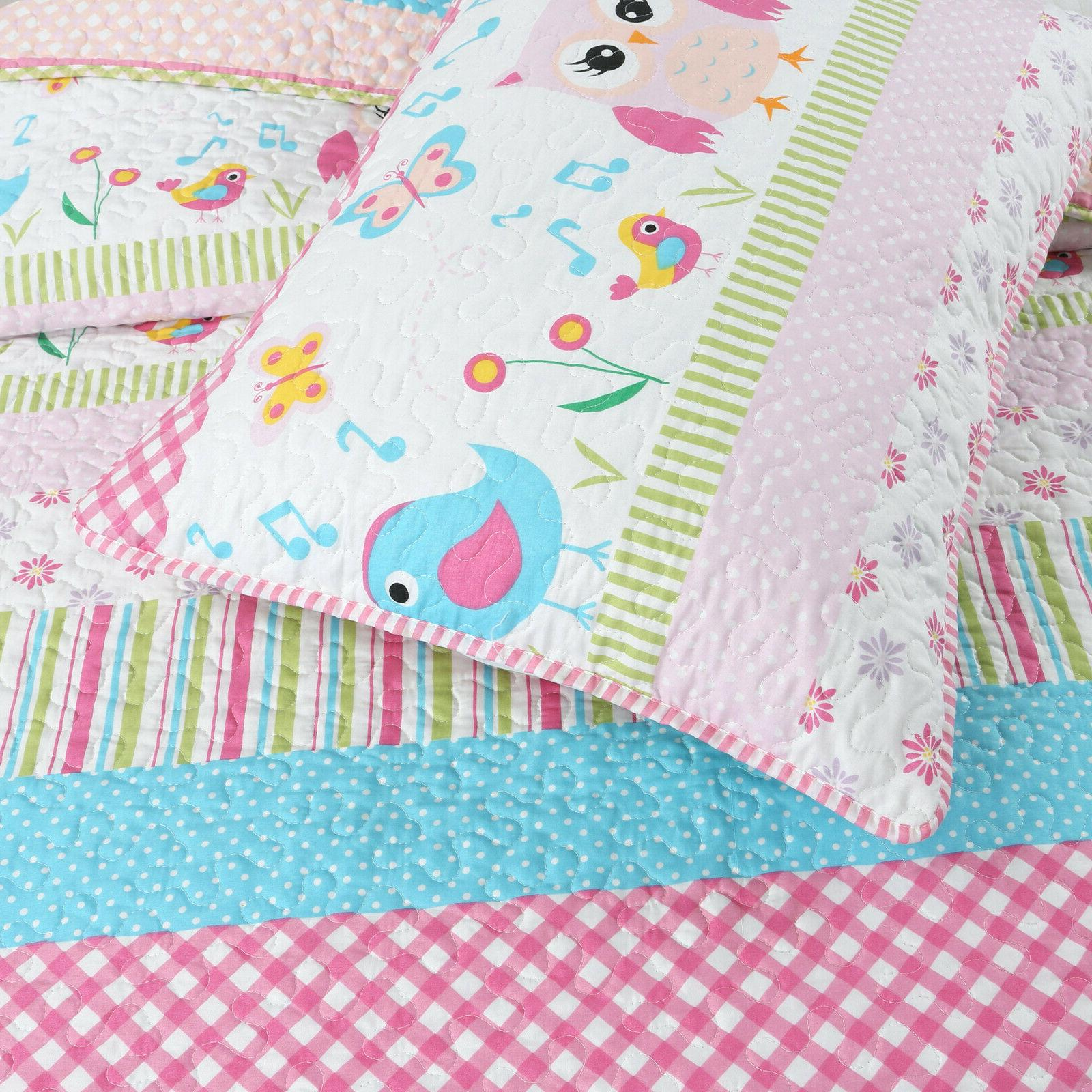 Home Pink Print Girl Bedspread, Coverlet