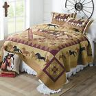"""American Hometex Horse Country Queen Quilt Set, 90"""" x 90"""", B"""
