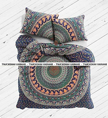 NEW Cotton Cover set - Twin Blanket Quilt Bedding Cover 2 Covers BHAIRAV