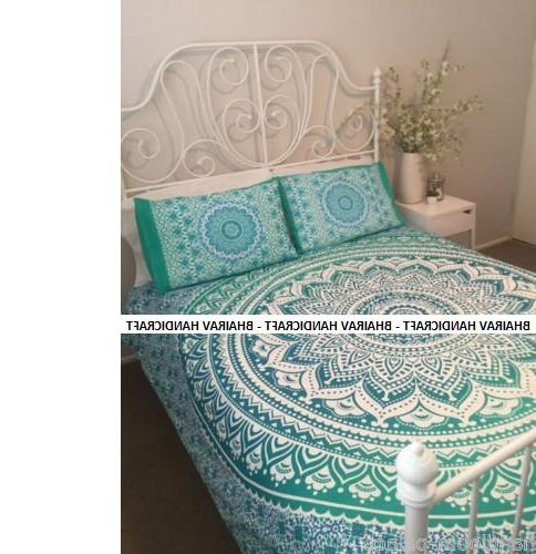 NEW Full Indian Cotton Mandala Duvet Doona set - size Bedspread Bedding Comforter With By