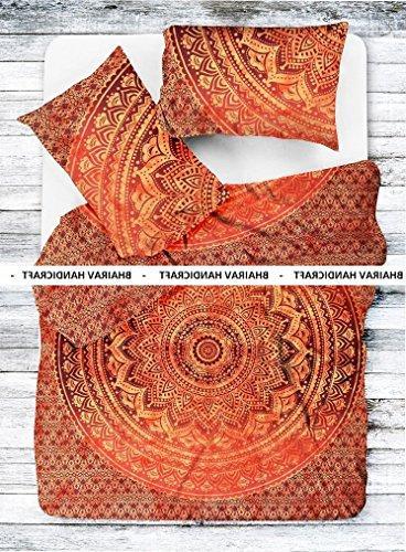indian medallion orange ombre jaipuri