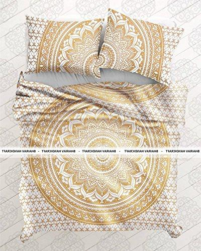 indian medallion white gold ombre