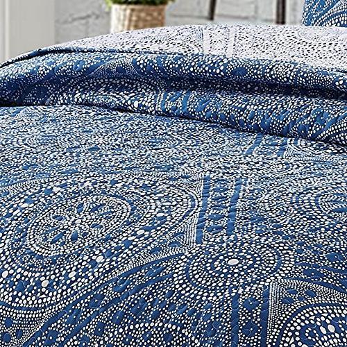 Jakarta Reversible Boho Pattern, 2-Piece Set Quilt and Pillow Twin, Jakarta