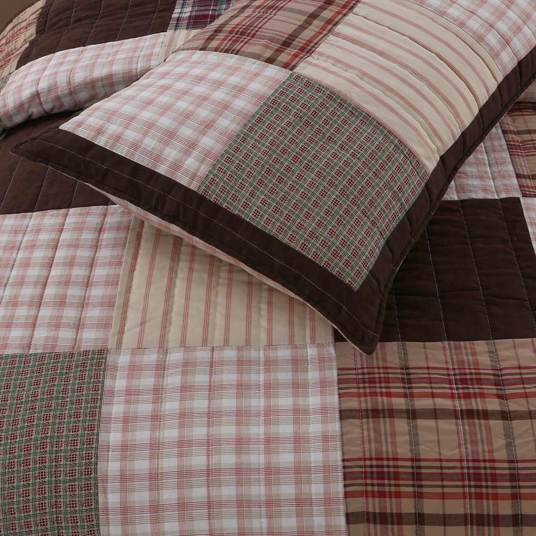 Jakob Real Patchwork 100%Cotton Quilt Set, Bedspread, Coverlet