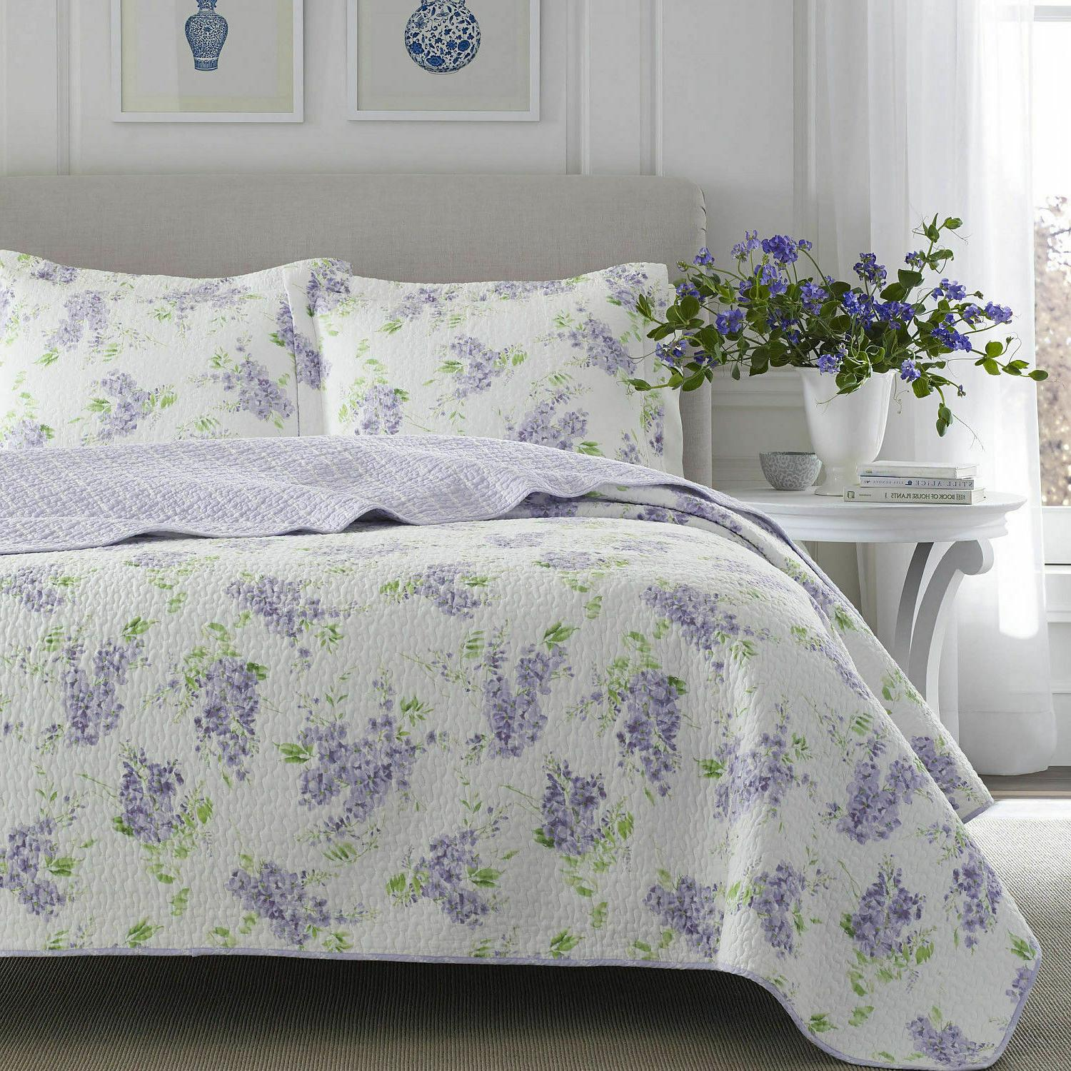Laura Keighley / Lilac Reversible Cotton Quilt