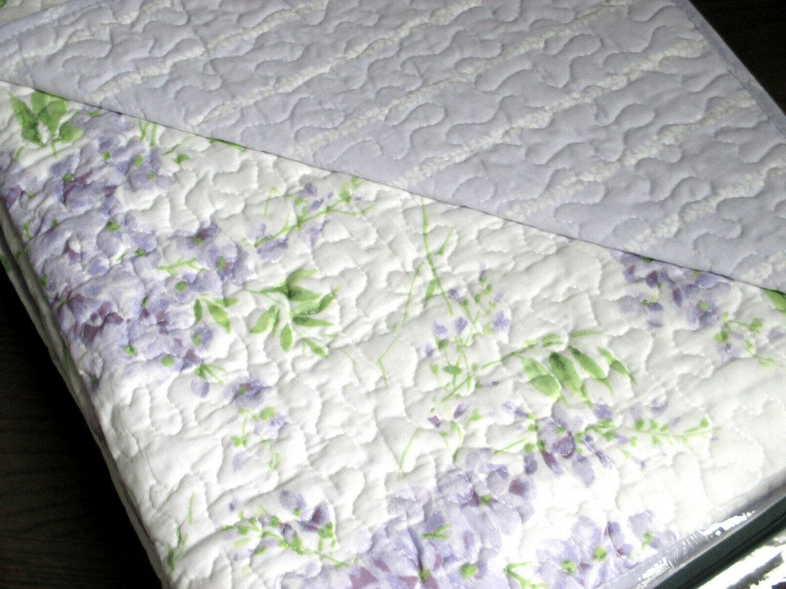 Laura / Lilac Floral Cotton Quilt Set
