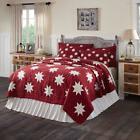 KENT QUILT SET-choose size & accessories-Red Primitive Star