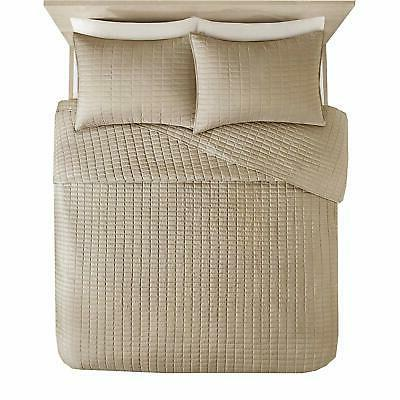 Comfort Spaces Stitched Pattern Taupe