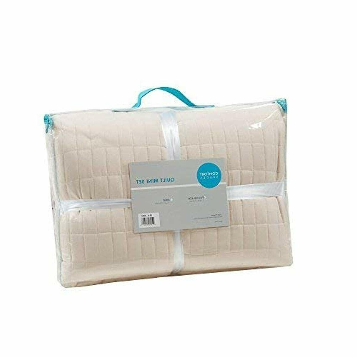 Comfort Spaces - Kienna Quilt 3 Piece Ivory -