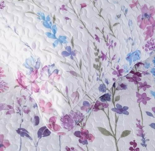 Bedsure Quilt Set Floral Elegant Pink