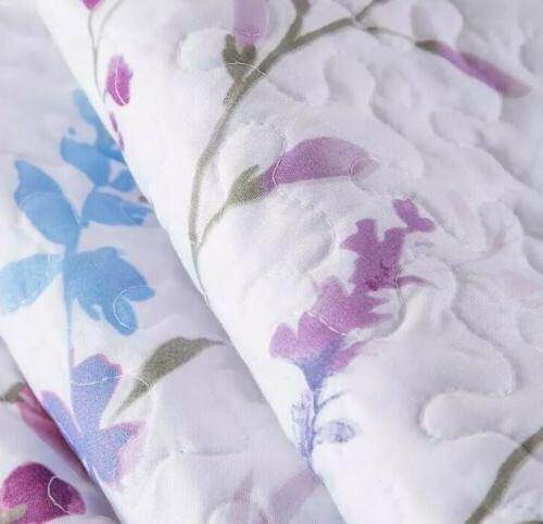 Bedsure King 3-Piece Set Coverlet Lilac Elegant Purple & Pink
