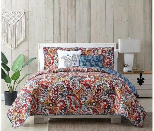VCNY Home Piece Reversible Quilt Bedding Set