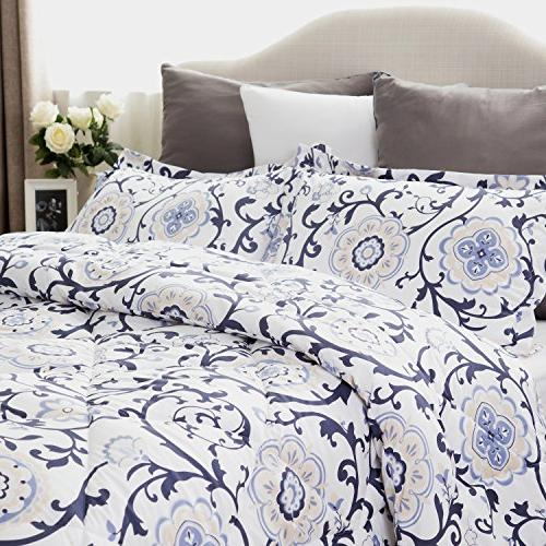 King Comforter Set Traditional Roll Design 3