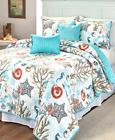 king or queen quilt set blue bedding