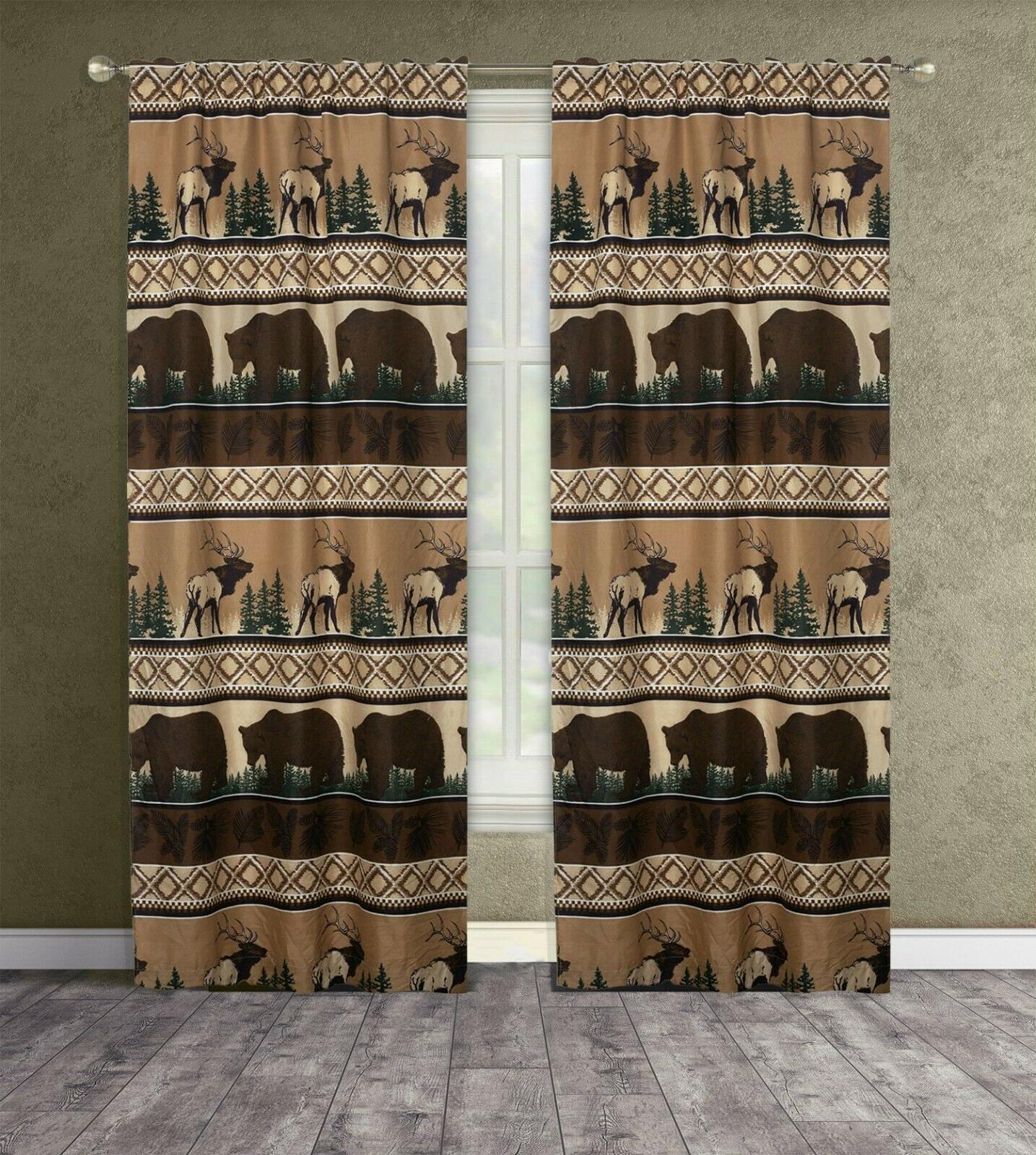 King, Twin Bed Pair Elk Cabin