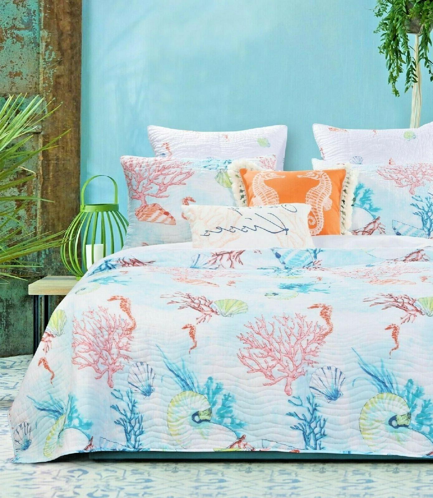 Quilt Set Queen Bedding Comforter Soft Multi Color Bed