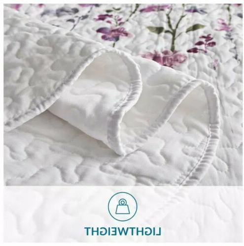 Bedsure inches Coverlet, Flower